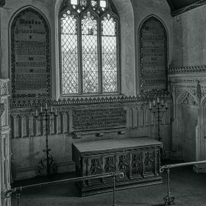 Church Interior Chancel Sanctuary Altar East Window 15th Century Medieval Victorian Neo Gothic Holcombe Burnell