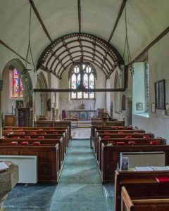 Church Interior Nave 15th Century Medieval Dartmoor Pews Throwleigh