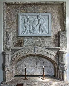 Granite Stonework Stone Carving Plain Easter Sepulchre Niche 16th Century Medieval Throwleigh