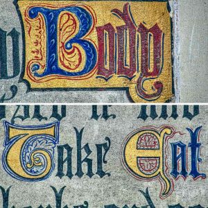 Lettering Calligraphy 19th Century Victorian Neo Gothic Credo Holcombe Burnell