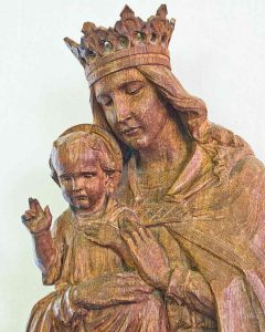 Madonna And Child Virgin Mary Christ Statue Wood Carving Plain Herbert Read 20th Century Throwleigh