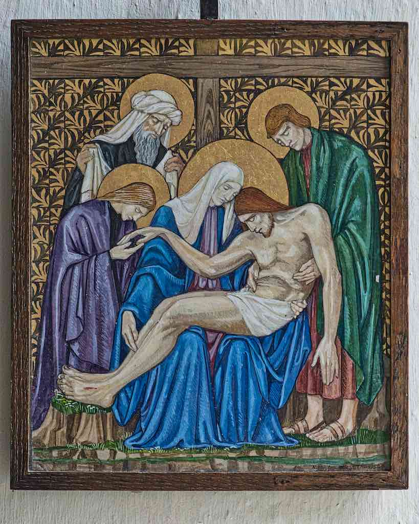 Nina Somerset Illustration Descent From The Cross Pieta Christ Virgin Mary 20th Century Throwleigh