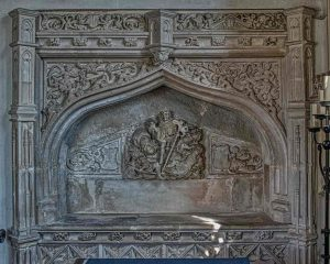 Renaissance Sculpture Stone Carving Plain Easter Sepulchre Memorial 16th Century Holcombe Burnell