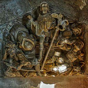 Resurrection Sculpture Flemish Stone Carving Plain Easter Sepulchre Christ 16th Century Holcombe Burnell