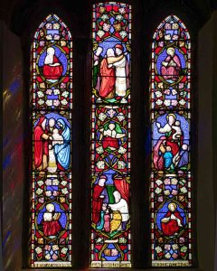 Stained Glass Victorian 19th Century LIfe Of Christ Throwleigh