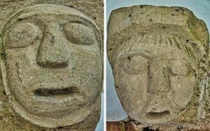Stone Carving Plain Norman 12th Century Medieval Monk Nun Holcombe Burnell