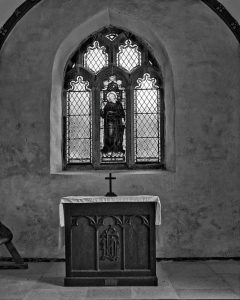 Altar East Window Black And White Peace Light Shadow Luffincott