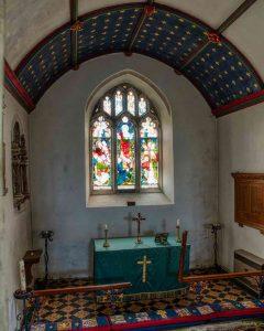Chancel Altar East Window Tiles 19th Century Victorian Gittisham
