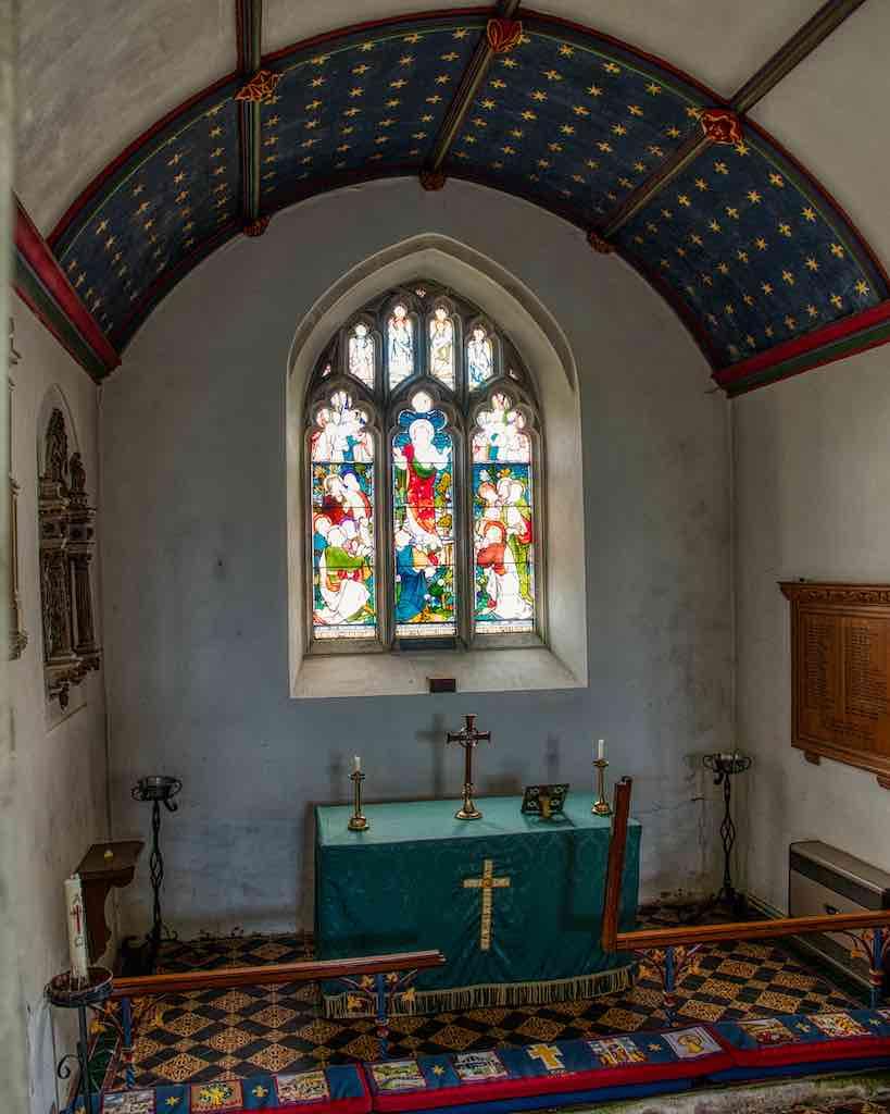 A simple sanctuary with a marvellous ceiling