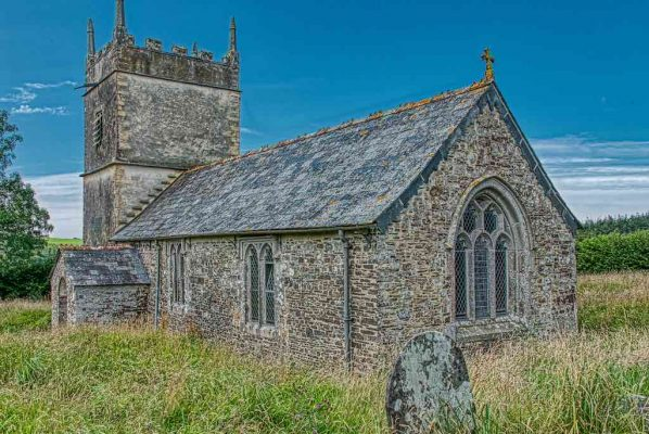 Church Exterior 18th Century West Devon East Window Luffincott