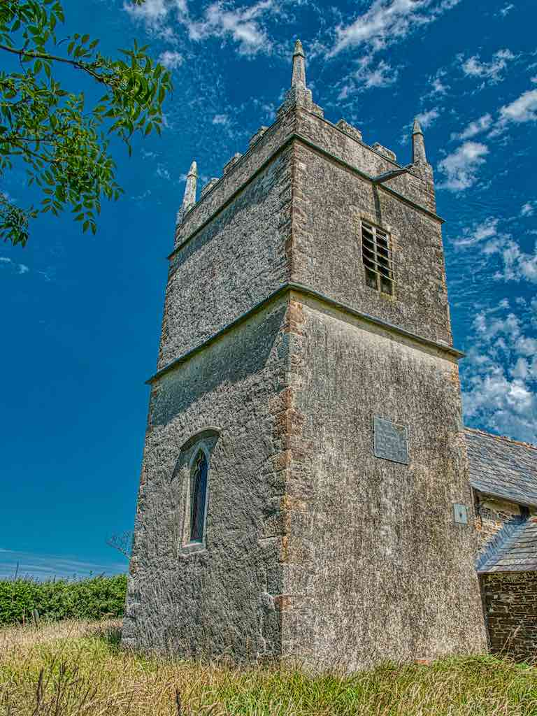 Luffincott Church of St James, the eighteenth century west tower