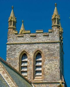 Church Exterior Bruce William Oliver 1878 Neo Gothic West Tower Stonework Belfry Victorian 19th Century Parracombe