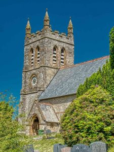 Church Exterior Bruce William Oliver 1878 Neo Gothic West Tower Stonework Victorian 19th Century Parracombe