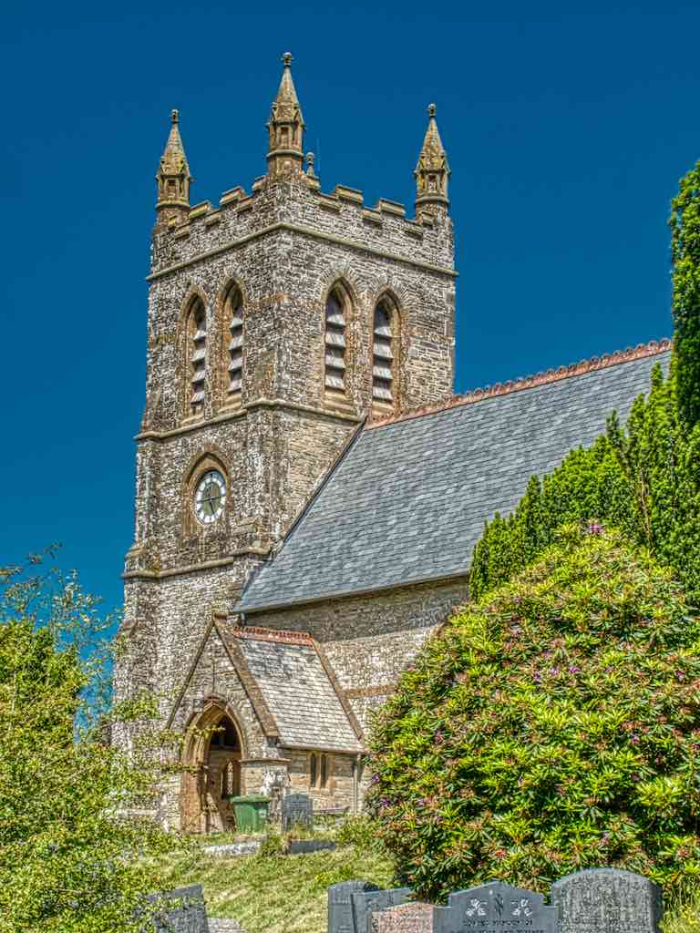 Perched on a steep hillside, Parracombe Christ Church is a wonderful late Victorian Neo-Gothic creation.
