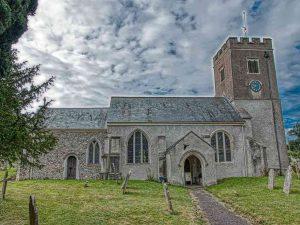 Church Exterior Medieval Chancel Nave West Tower Gittisham