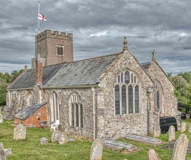 Church Exterior Medieval East Window Gittisham