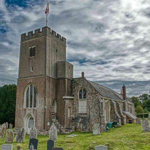 Church Exterior Medieval West Tower Gittisham