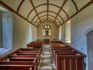 Church Interior 18th Century West Devon East Window Pews Simple Luffincott