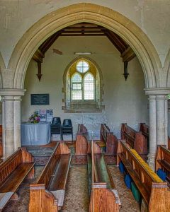Church Interior Bruce William Oliver 1878 Neo Gothic Nave Pews Window Arch Limestone Stonework Victorian 19th Century Parracombe