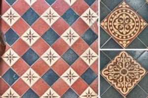 Floor Tiles Encaustic 19th Century Victorian Gittisham