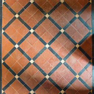 Floor Tiles Encaustic Victorian 19th Century Parracombe