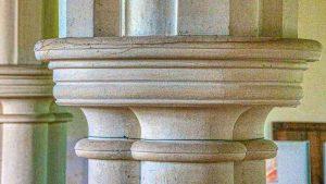 Pillar Capital Round Limestone Bruce William Oliver 1878 Neo Gothic Stonework Victorian 19th Century Parracombe