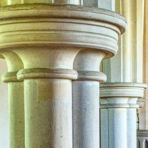 Pillar Capital Round Limestone Bruce William Oliver 1878 Stonework Neo Gothic Victorian 19th Century Parracombe