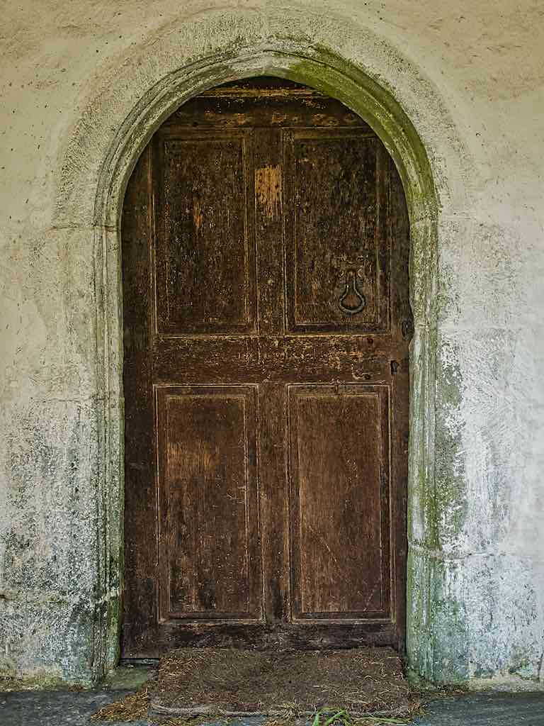 The 18th century door, looking for all the world as if snatched from a local farmhouse.