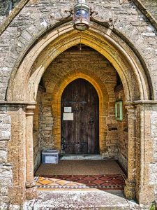South Door Bruce William Oliver 1878 Neo Gothic Stonework Victorian 19th Century Parracombe