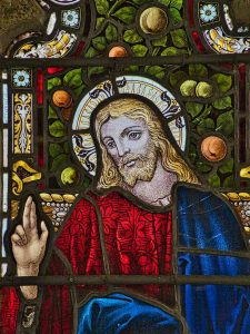 Stained Glass Victorian 19th Century Christ Fruit East Window Luffincott