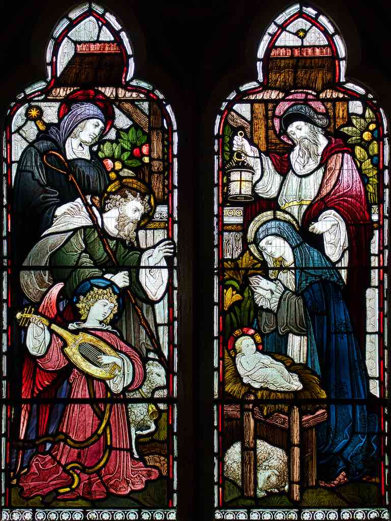 Beautifully composed 'Adoration of the Shepherds' by the distinctive artist WF Dixon