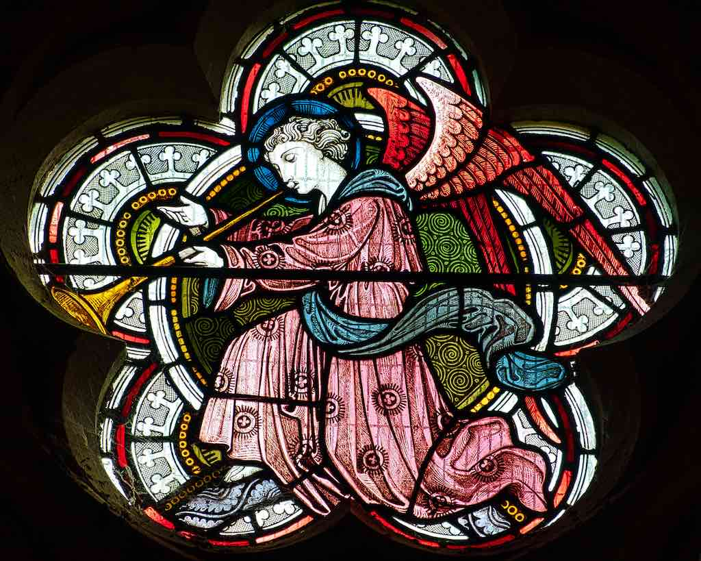A beautiful trumpeting angel by WF Dixon