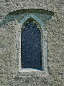 Window Exterior West Tower 18th Century Stone Carving Plain Luffincott