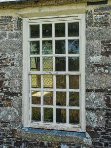 Window Exterior West Tower 18th Century Wood Sash Panes Luffincott