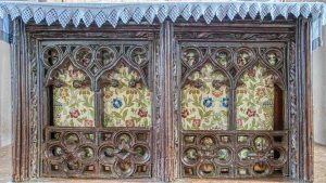 Altar Medieval Rood Screen Wood Carving Plain Cookbury