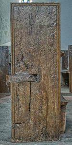 Bench End Church Pew Heads Oak Wood Carving Plainl 16th Century Medieva Cookbury