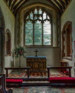 Chancel Altar East Window 15th Century Medieval Coldridge
