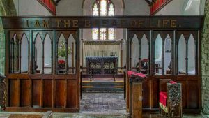 Chancel Screen Early English Style Wood Carving Plain Victorian 19th Century Cookbury