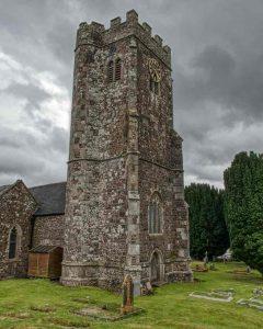 Church Exterior Stonework 15th Century West Tower Medieval Coldridge