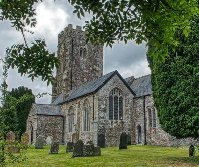 Church Exterior Stonework South Aisle 15th Century West Tower Medieval Coldridge