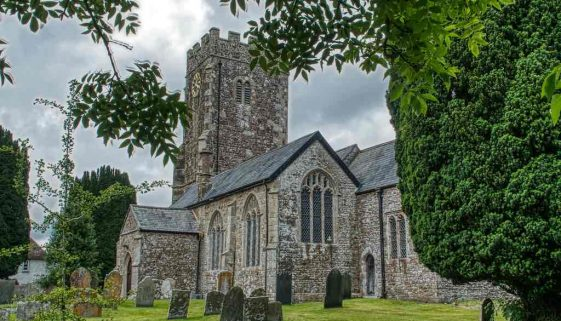 Church Exterior Stonework South Aisle 15th Century West Tower Medieval Coldridge