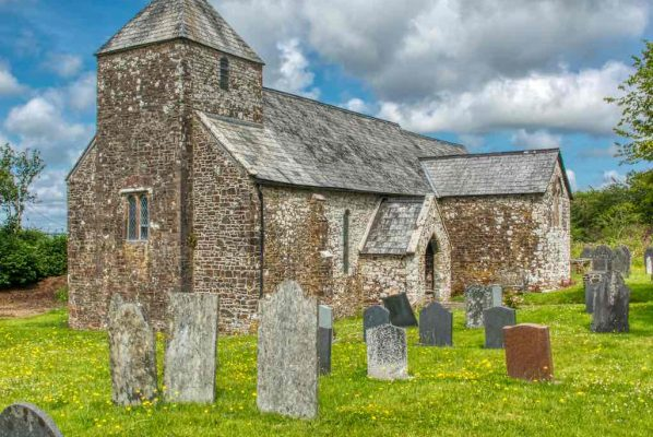 Church Exterior Transept West Tower 14th Century Medieval Cookbury