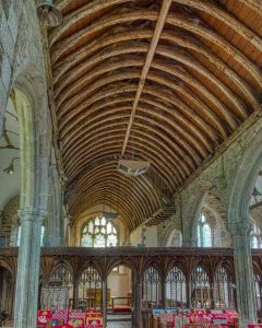 Church Interior Nave Roof Rood Screen 15th Century Medieval Coldridge