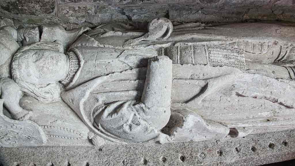 The effigy of John Evans