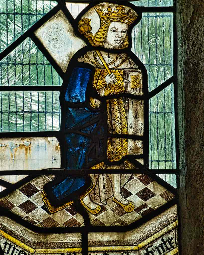 Edward the Fifth in medieval stained glass, an extraordinarily rare piece