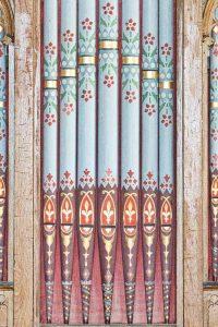 Organ Pipes Stencil Painted Coldridge