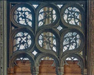 Parclose Screen Wood Oak Carving Plain Tracery Breton 16th Century Medieval Coldridge
