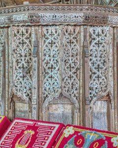 Pulpit Wood Oak Carving Plain Tracery 16th Century Medieval Coldridge