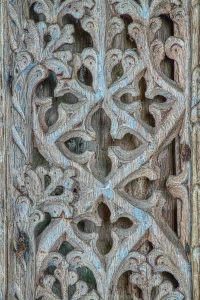 Pulpit Wood Oak Carving Plain Tracery Detail 16th Century Medieval Coldridge