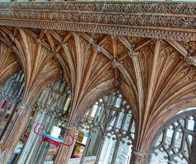 Rood Screen Wood Oak Carving Plain Vaulting Cornice Tracery 16th Century Medieval Coldridge